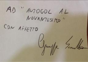 """Ad Autogol al Novantesimo, con affetto Giuseppe Sicurella"""