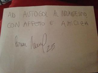 """""""Ad Autogol al Novantesimo con affetto e amicizia, Manuel Rizzon 25"""""""